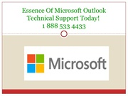 Call on 1-888-533-4433 for Outlook Technical Support Service USA