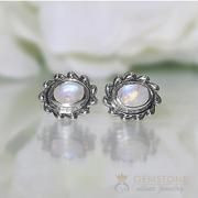 Moonstone Studs-Mighty Waves