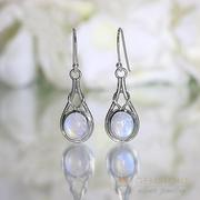 Moonstone Earring-Affectionate Knot