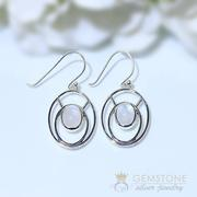 Moonstone Earring-Helene Sterling