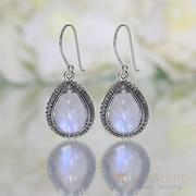 Moonstone Earring-Moonlit Droplet