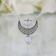 Moonstone Necklace - To The Moon & Back